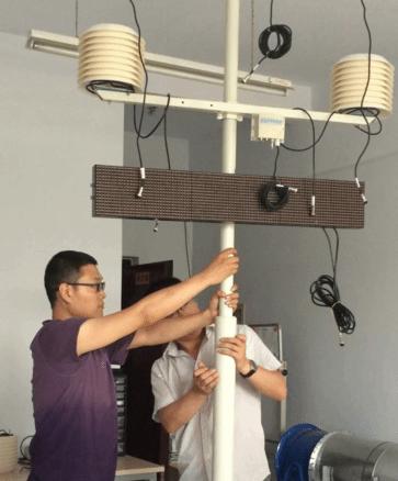 青岛平度市建筑工地测扬尘使用的路博lb-ph10a 小型气象站