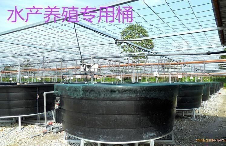 塑料1300l方形鱼池 可装轮子方桶