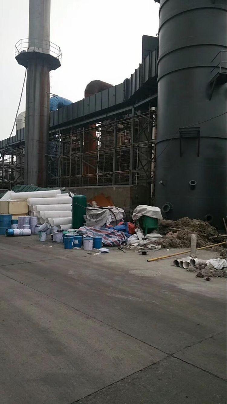 上海富晨玻璃鱗片施工