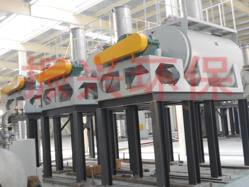 CMS羟甲基淀粉蒸汽加热面积真空卧式耙式干化机,节能环保干化机