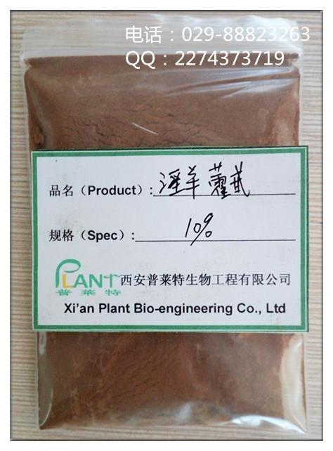 纯天然植物提取 淫羊藿提取物,淫羊藿苷,补肾壮阳原料10% 20% 50%含量产品图片