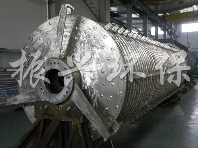 纸浆污泥专业真空盘式干化机,空心圆盘桨叶干化设备