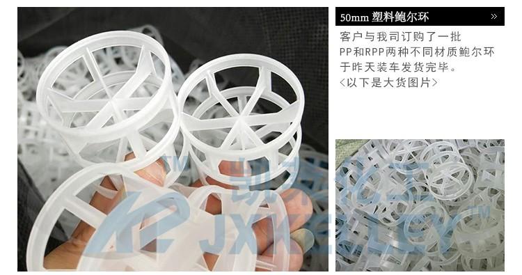 50PP塑料鲍尔环填料厂家发货图片