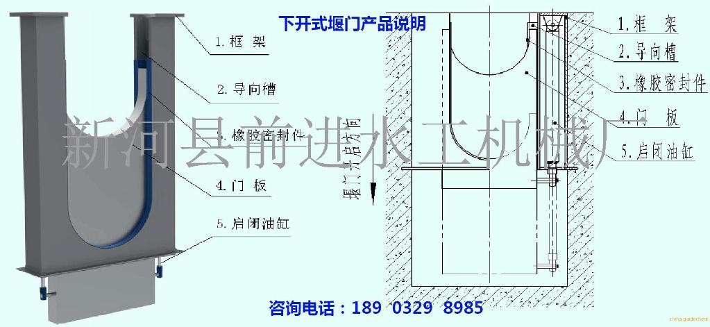 液压下开式堰门安装步骤