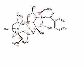 苯甲酰次乌头原碱,63238-66-4,对照品产品图片