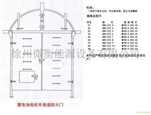 蓄电池电机车巷道防火门MFHX-2.4X2.45