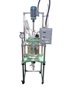 10L双层防爆玻璃反应釜产品图片