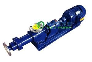 螺杆泵厂家:I-1B型不锈钢浓浆泵 产品图片