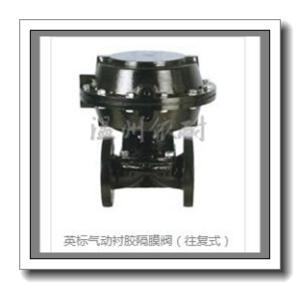 英標氣動襯膠隔膜閥(往復式)