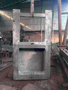 高水头铸铁闸门安装
