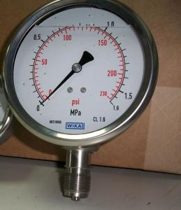 德國WIKA威卡雙刻度壓力表