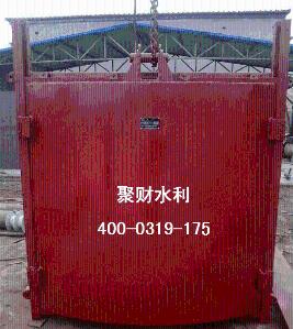 聚财牌滑动式铸铁闸门的结构
