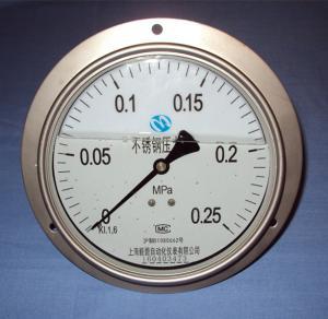 YN-100BF不銹鋼耐震壓力表