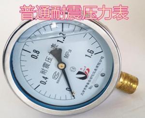 耐震壓力表抗震充油壓力表YTN100 0-1.6/0-10/0-40