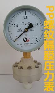 隔膜壓力表螺紋pp材質連接可定做YENP100 0-1.6/0-1/0.4/0.25MPA