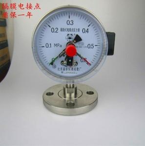 100mm法蘭連接1.6級隔膜電接點壓力表316L