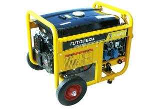 便携式250A汽油发电电焊机体积
