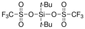 供应 二叔丁基硅基双(三氟甲烷磺酸) 英文名:Di-tert-butylsilyl bis(trifluoromethanesulfonate) CAS号:85272-31-7 品牌:Aldrich
