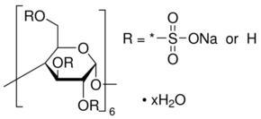 供应 α-环糊精硫酸盐 钠盐 水合物英文名:α-Cyclodextrin, sulfated sodium salt hydrateCAS号: 699020-02-5 品牌:Aldrich