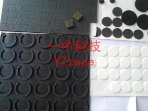 黑色硅胶垫加工定制 环保材料 单面背胶产品图片