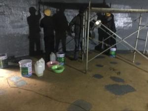 脱硫塔施工安全标准  脱硫塔玻璃鳞片防腐   脱硫塔玻璃鳞片防腐胶泥