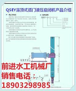 QSEY露顶式弧形门液压启闭机插图
