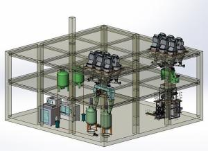 桶装液体叶面肥、水溶肥自动配料混合生产线整套设备 产品图片