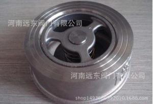 河南銷售H71W-25P不銹鋼對夾式止回閥