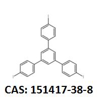 1,3,5-三(4-碘苯基)苯 CAS:151417-38-8 现货厂家 黄金产品