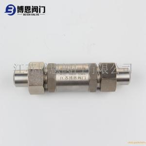 不銹鋼焊接式止回閥 高壓單向閥廠家