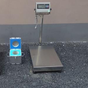 食品厂60kg防水台秤 上海100公斤不锈钢电子称 150kg防腐蚀台秤产品图片