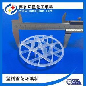海水脱硫填料用雪花环填料PP塑料雪花环填料聚丙烯花环填料 产品图片