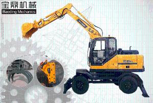 轮式挖掘机|95轮式挖掘机
