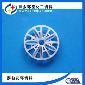 聚丙烯花环填料 排气洗涤塔设备填料 51mm梅花型花环填料 产品图片
