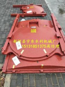 水利污水管道单向止水铸铁镶铜圆闸门
