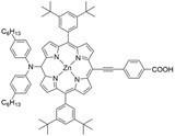 Zinc(II) 5,15-Bis(3,5-di-tert-butylphenyl)-10-(bis(4-hexylphenyl)amino)-20-  (4-carboxyphenylethynyl)porphyrin