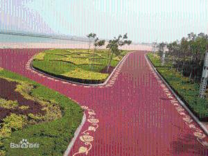 透水混凝土胶结剂|专业公园路面透水混凝土产品图片