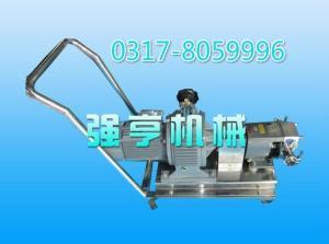 遼寧強亨機械移動式不銹鋼轉子泵廠家直銷價格更優惠