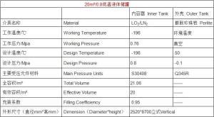 20立方低温储罐-lng低温储罐具体参数表