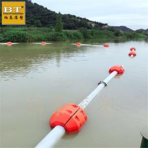 疏浚航道夹管浮体 水上管线托管塑料浮体批发