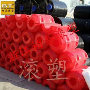阳澄湖景区塑料警示浮筒颜色靓丽