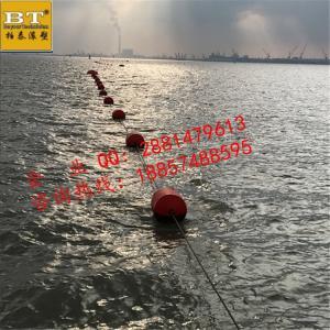 浅海禁航喷字警示围栏塑料浮体批发价格