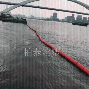 圆筒形水上拦截塑料浮漂桶施工安装介绍 产品图片