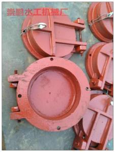 圆形水库铸铁拍门,铸铁圆拍门