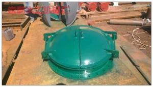 1000圆形河道铸铁拍门价格,DN800铸铁拍门