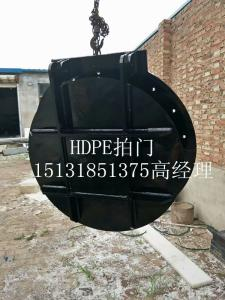 D800圆形壁挂式HDPE拍门