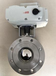 Q971F-16P 電動超薄對夾球閥 電動意大利式薄型球閥