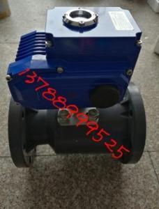 Q941F-10S 電動UPVC塑料法蘭球閥 電動塑料法蘭球閥