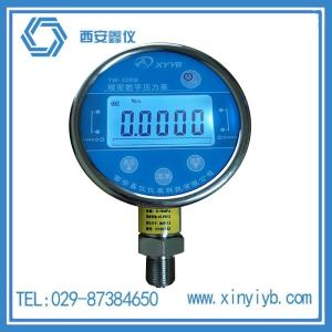 西安YW-100B精密數字壓力表帶觸摸按鍵廠家直銷
